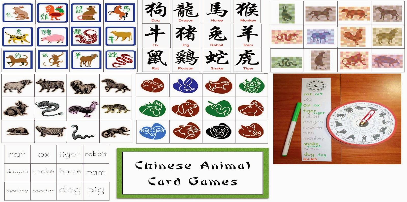 Chinese New Year Animal Card Games - Classroom Freebies