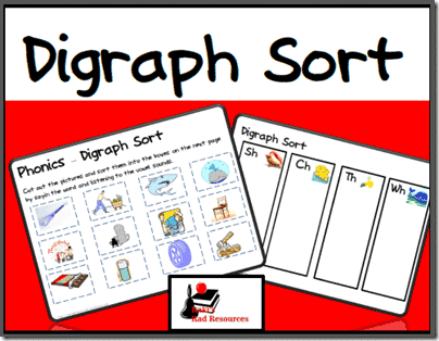 digraph cut and paste sort from raki s rad resources classroom freebies. Black Bedroom Furniture Sets. Home Design Ideas