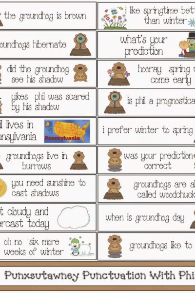 Groundhog Day Punctuation Packet