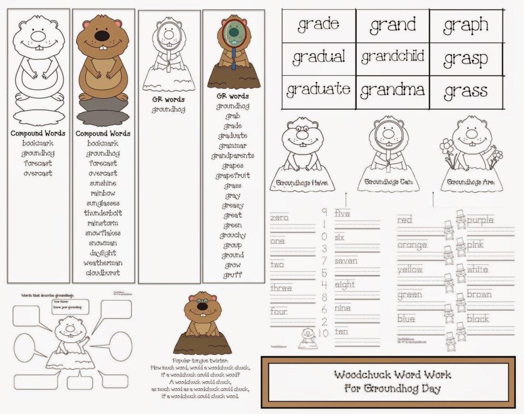 Groundhog Day Word Work Packet Classroom Freebies
