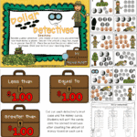Dollar Detectives {Math Center Game}