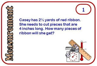 Math Measurement Story Problem Task Cards