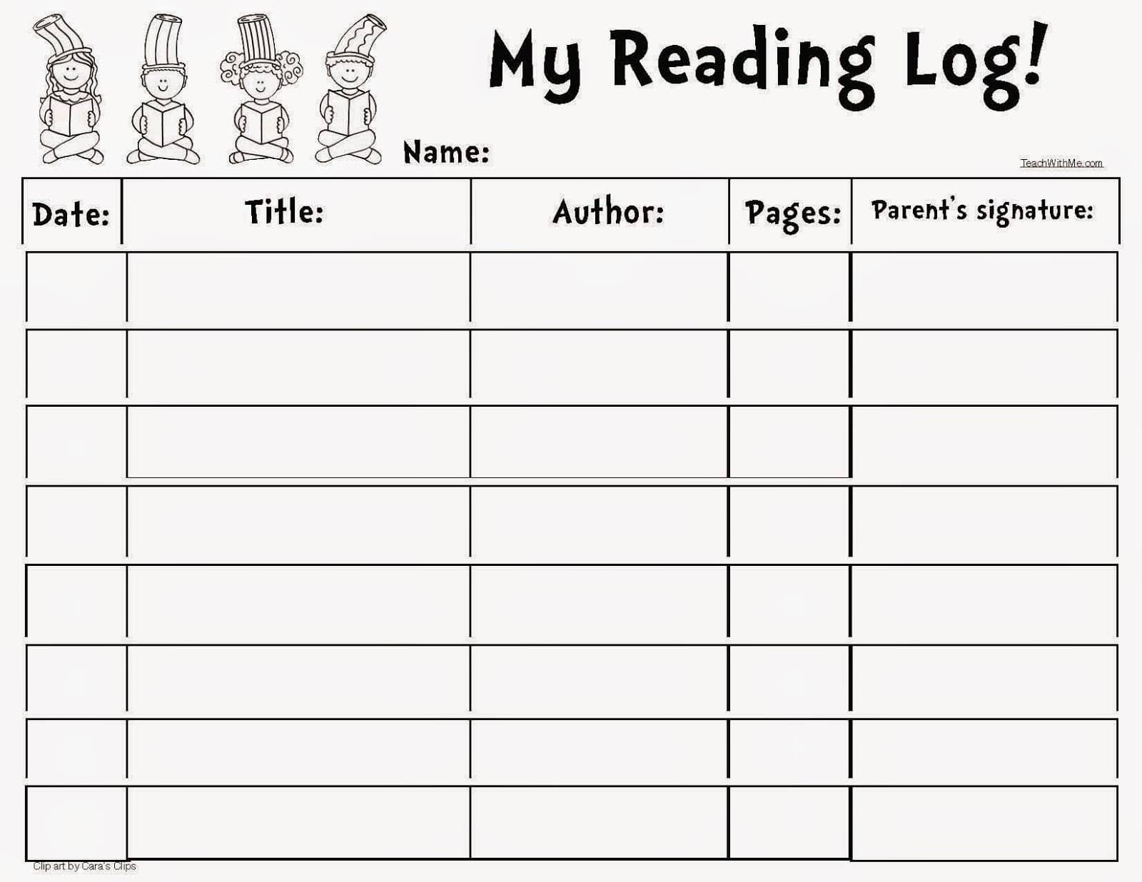 Seuss Themed Reading Log Classroom Freebies