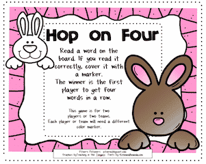 Easter Bunny Silent e Game — FREEBIE!