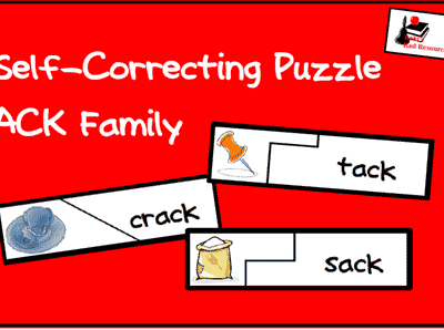 Self Correcting Word Family Puzzle from Raki's Rad Resources