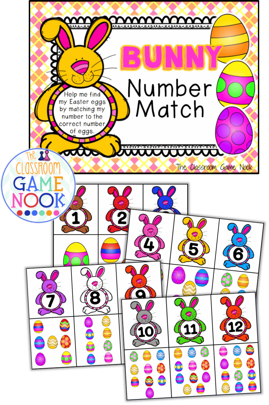 number identification game  easter theme