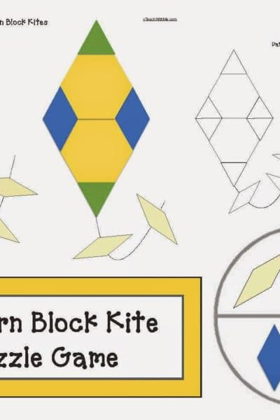 Pattern Block Kite Puzzle Games