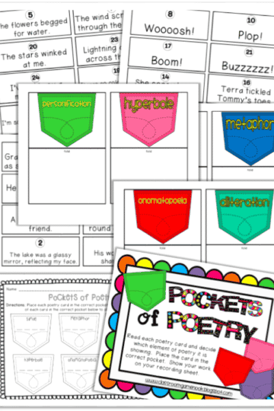 National Poetry Month Game Freebies!