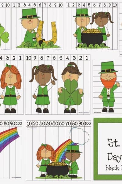 16 St. Patrick's Day Number Puzzles