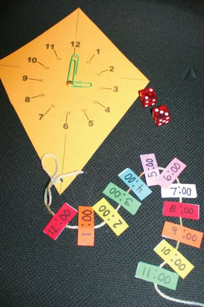 Time Flies Telling Time Kite-Themed Game