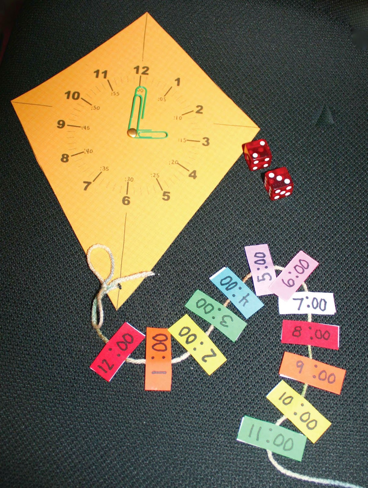 Time Flies Telling Time Kite Themed Game Classroom Freebies