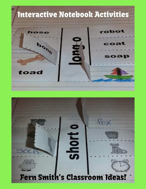 Fern Smith's FREE Interactive Notebook Activity for Short o & Long o