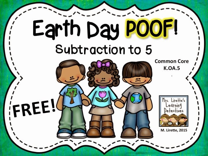 http://www.mrsliretteslearningdetectives.com/2015/04/a-suprise-announcement-with-earth-day.html
