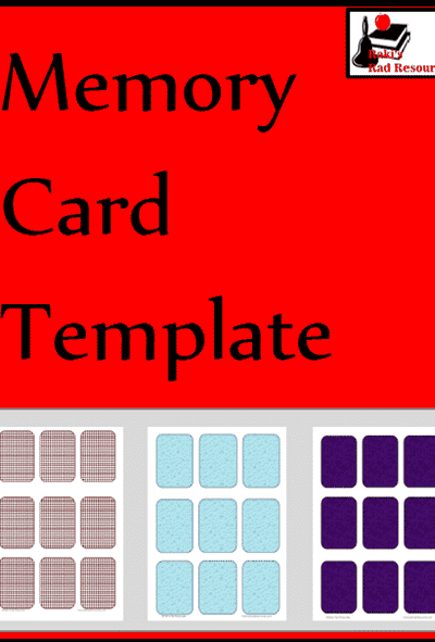 Memory Card Template from Raki's Rad Resources