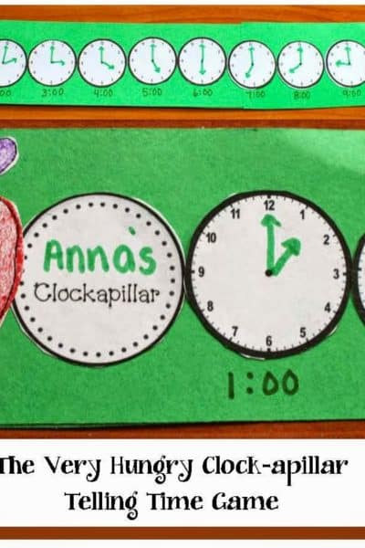 The Very Hungry Clock-apillar Telling Time Game