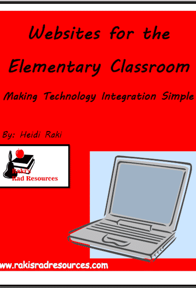 Website for the Elementary Classroom E-book from Raki's Rad Resources