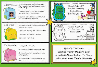 Packin' Up The Memories End of the Year Writing Prompt Activities