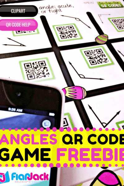 Identifying Angles QR Code Math Game FREEBIE!