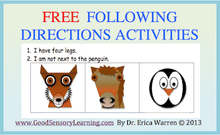 Following Directions Free Activity