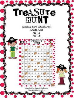 Treasure Hunt 120 Chart Math Game