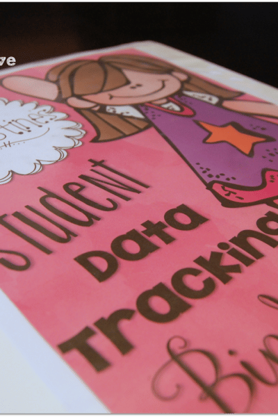 Student Data Tracking Binder Covers and Binder Spines