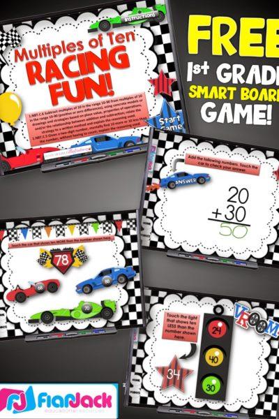 Ten More or Less Smart Board Game FREEBIE