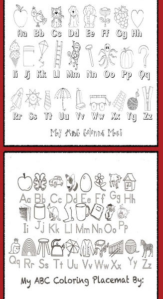 """Color Me"" Alphabet Poster Mats"