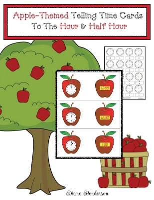 Telling Time to the Hour & Half Hour With Apples