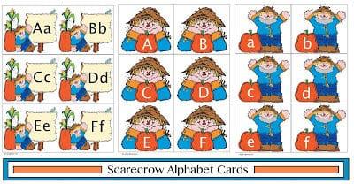 Scarecrow Alphabet Cards