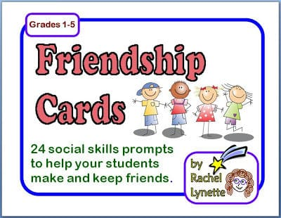 Friendship Social Skills Cards – Great for the Start of the Year!