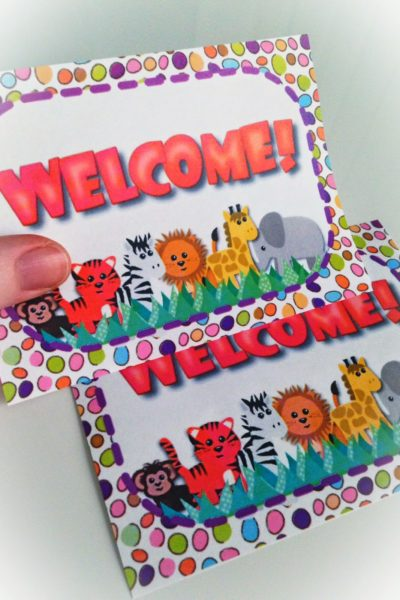 Jungle Safari Welcome Postcard FREEBIE