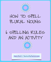 photo of How To Spell Plural Nouns, Pdf, Free, student worksheets, TeachersPayTeachers.com, Ruth S.
