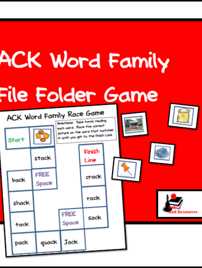 Easy ACK Family Center – File Folder Game