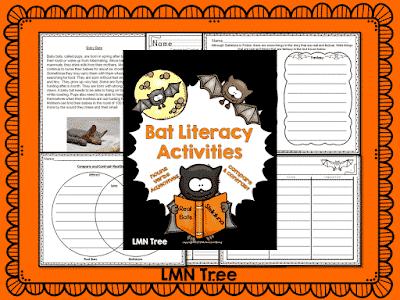 """Batty"" for Bat Literacy Activities"