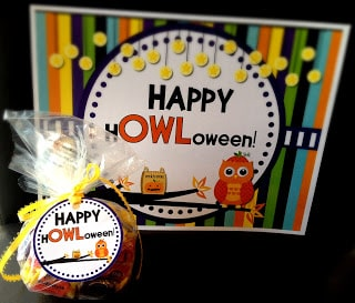 Halloween Owl Gift Tags And Sign Freebie