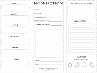 Nonfiction Trifold Student Worksheet