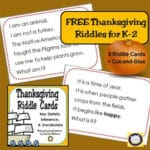 Build Vocabulary with Thanksgiving Riddle Cards