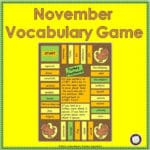 A Game for November Vocabulary