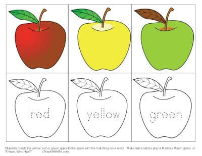 Simple Apple Memory Match Game