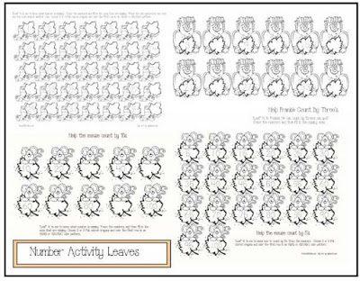 15 leaf-themed math worksheets