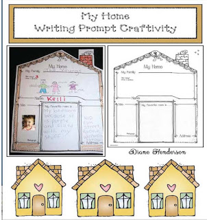My Home Writing Prompt Craftivity