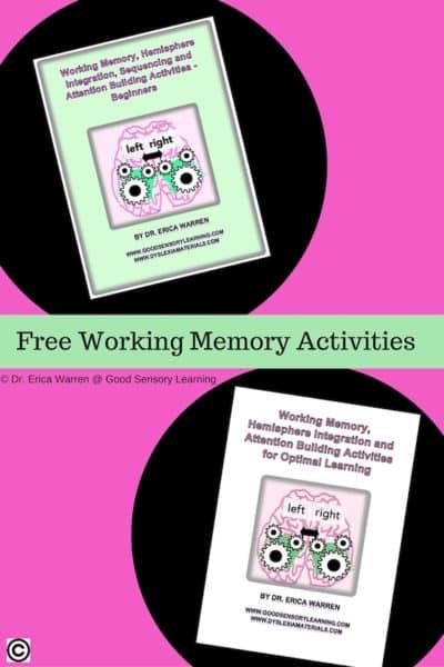 Working Memory Remediation Freebie