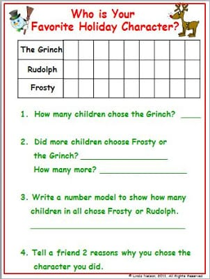 Tally and Graph the December Fun!