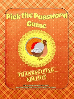Pick the Thanksgiving Password Game