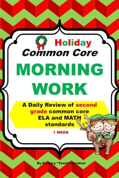Meaningful December Bell Ringer for 2nd grade