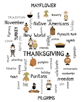 Thanksgiving Word Art Poster Writing Lesson