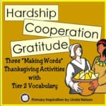 Making Words Activities for Thanksgiving