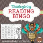 Thanksgiving Reading Bingo