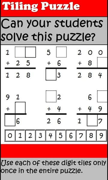 Addition with Regrouping Puzzle – Free Download