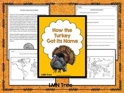 """How the Turkey Got its Name"" Reading Activity Packet"